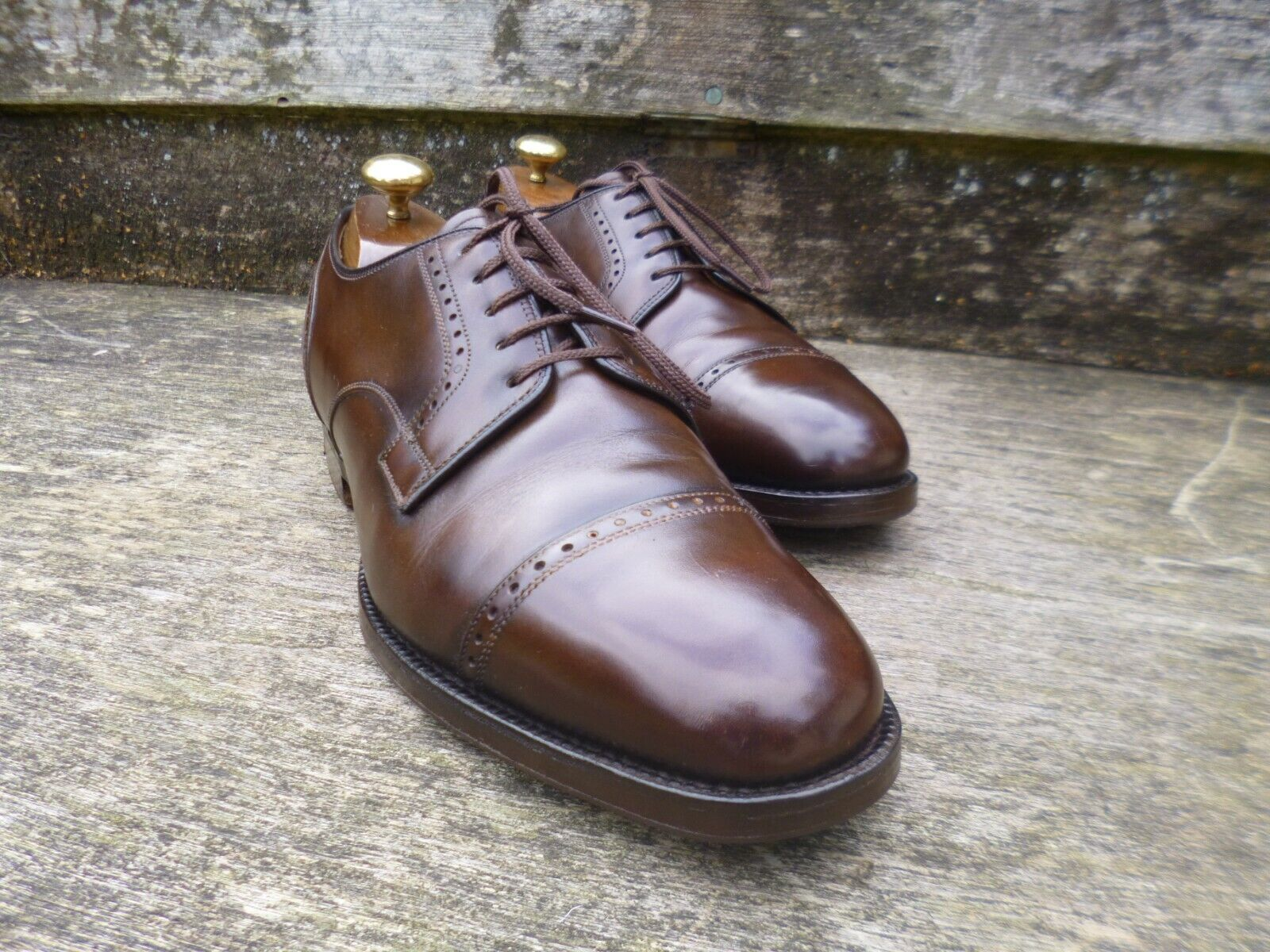 CHURCH BROGUE DERBY – BROWN –  UK 7 – TAMWORTH - EXCELLENT CONDITION