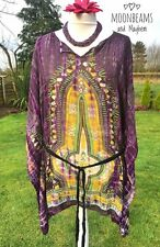 FAB NEW PURPLE BOHEMIAN TUNIC KAFTAN HIPPIE TOP PLUS SIZE 14 16 18 20 22 24 26