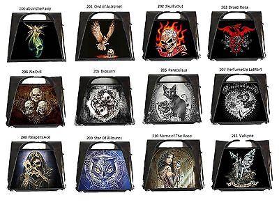 Alchemy Gothic Diosurri Skull Fantasy Gothic Lenticular 3D Black Patent Purse