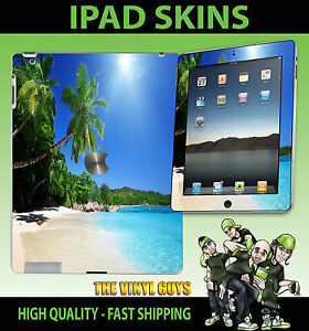 Apple-Ipad-2-3-3G-4G-amp-Wifi-Adhesivo-de-Vinilo-Playa-Tropical-Paraiso-Estilo