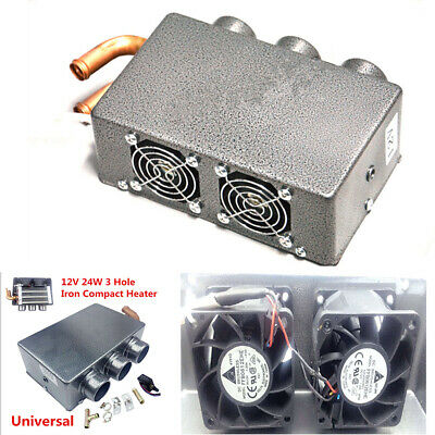 US 12V 24W Car Vehicle Heater Defroster Demister Portable 3 Hole Heating New