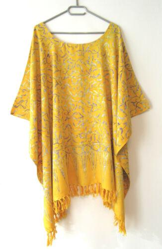 Prem tunique chemisier opaque jaune argent taille 4xl 5xl 6xl 62 64 66 68 70 gw552