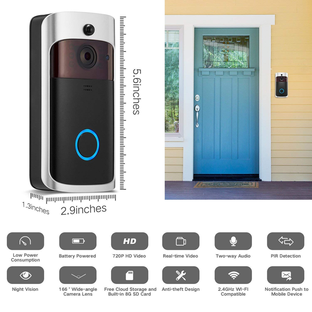 Image 41 - Smart-Wireless-Phone-Door-Bell-Camera-WiFi-Smart-Video-Intercom-Ring-Doorbell