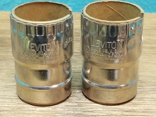 New Leviton Nickel Light Socket Keyless Lamp Holder Electrolier SHELL ONLY