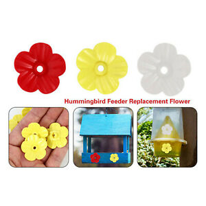 Hanging hummingbird feeder replacement flower, feeding port, parts used supplies