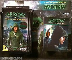 Cryptozoic-Arrow-Season-1-Complete-Base-Set-Box-Wrappers-Trading-Cards-DC-CW