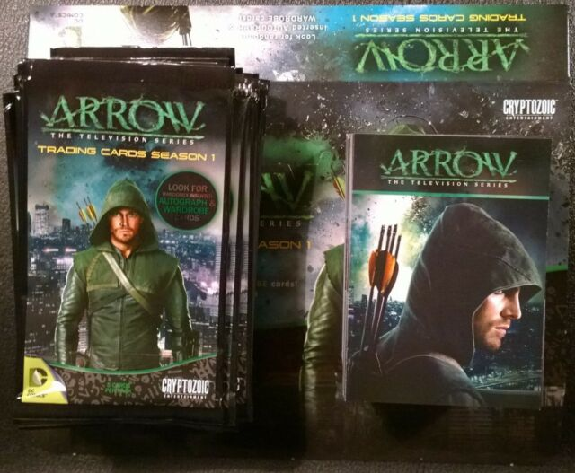 Cryptozoic Arrow Season 1 Complete Base Set Box Wrappers Trading Cards DC CW