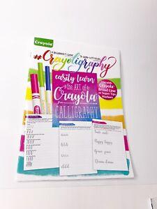 Crayola-principiante-039-s-Guide-to-a-Mano-Letras-caligrafia-crayoligraphy-Color-Adulto