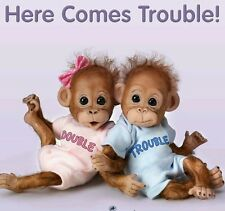 Ashton Drake bebé orangután Poseable monos Double Trouble