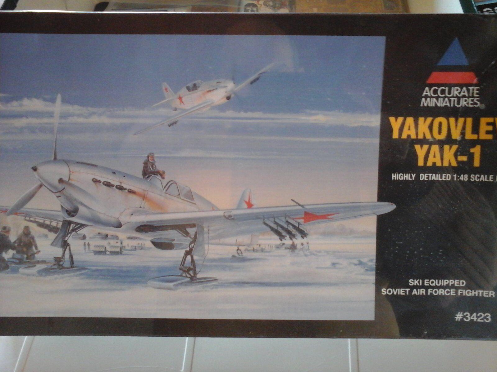 YAKOLEV YAKOLEV YAKOLEV YAK1 FIGHTER 1/48 SCALE ACCURATE MINIATURES MODEL 95dc76