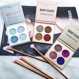 sequins glitter eye shadow make up palette 4color set