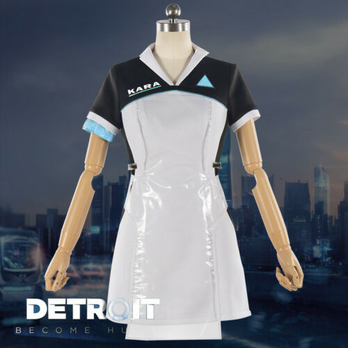 Detroit Become Human KARA Code AX400 Dress Cosplay Costume Outfit