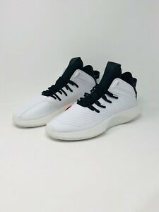 77a16506b798 Adidas Crazy 1 ADV Mens AQ0320 White Black Leather Basketball Shoes ...