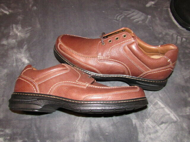 Johnston & Murphy Men's Windham Moc Toe Oxford Oak Full Grain Leather SIZE 13
