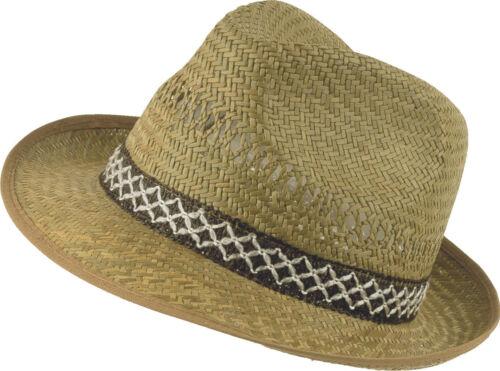 Bullstar messieurs chapeau de paille original taille 55