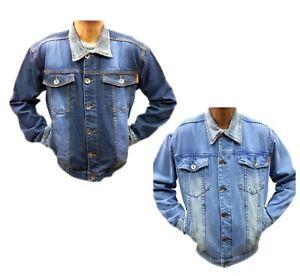 Nouveau-Tim-Homme-Veste-en-jean-Authentique-Classique-Style-Vintage-Trucker-Jean-Manteau