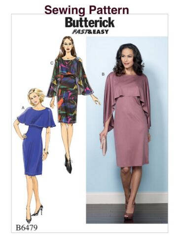Butterick B6479 Fast /& Easy PATTERN Misses/' Dress Sizes 6-22 New