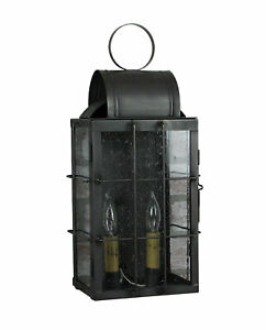 Details About Katie S Medium Danbury Outdoor Lighting Wall Lantern Solid Br Made In Usa