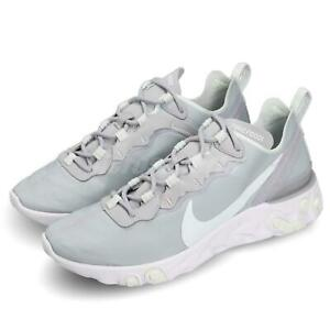 buy popular 9541a 2deba Image is loading Nike-Wmns-React-Element-55-Wolf-Grey-Ghost-