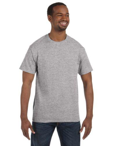 Hanes Homme à manches courtes Tagless T Shirt S M L XL 2XL 3X 4XL 5XL 5250