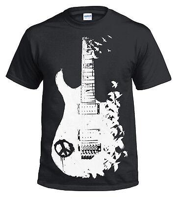BAND GUITAR Long Sleeve T Shirt//Banksy//Metal//Peace//Music//Crow//Goth//ChristmasGift