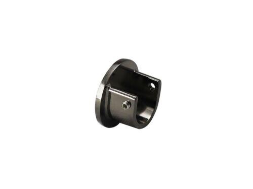 Nickel Noir Tringle à Rideau Rod Brackets 19 mm 28 mm 35 mm pause extensible double