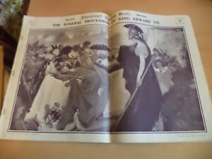 ILLUSTRATED-LONDON-OLD-ANTIQUE-MAGAZINE-SPECIAL-MAY-1910-FUNERAL-KING-EDWARD-VII