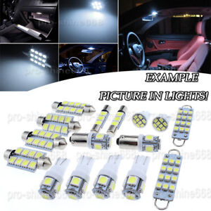 13X Bulb Car LED Interior Lights Package kit For 2003-2007 Cadillac CTS White NQ