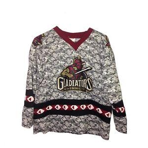 Gwinnett Gladiators Camo Mens Promo Hockey Jersey Size L
