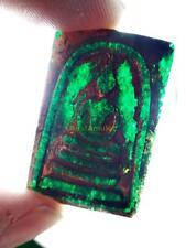 5363-THAI AMULET LEKLAI NAGA CAVE STONE OLD SOMDEJ TOH WAT RAKANG ANCIENT GREEN
