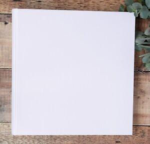 Extra Large Photo Album. DIY Photo Album. Plain, Blank White Photograph Album.