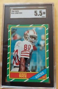 1986 Topps #161 Jerry Rice RC SGC 5.5 EX+ HOF San Francisco 49ers Rookie