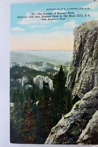 South-Dakota-SD-Black-Hills-Harney-Peak-Summit-Postcard-Old-Vintage-Card-View-PC