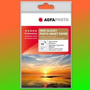 50-Bl-AGFAPHOTO-Professional-High-Glossy-260-g-qm-10x15-AP26050A6-schn-Brief
