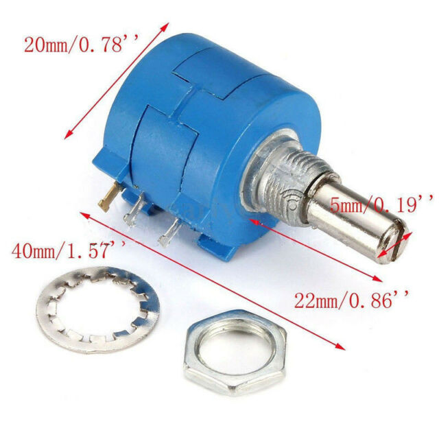 10K Ohm 3590S-2-103L With 10 Turn Counting Dial Rotary Potentiometer Pot KK
