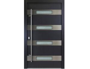 aluminium haust r modell finn wei anthrazit neu t ren rahmen 92 mm ebay. Black Bedroom Furniture Sets. Home Design Ideas