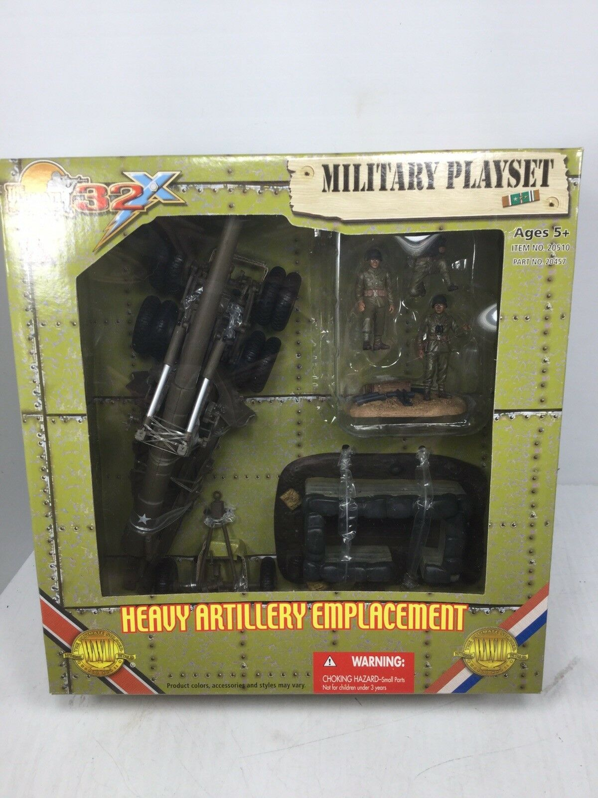 1   32 umfang ultimative soldat xd uns schwere artillerie emplacement set 155mm cats nib