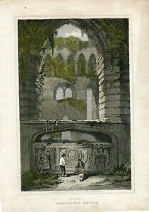 Lanercost-Priory-Engraving-By-J-Greig-IN-1814-IN-One-Paint-Of-L-Clennell
