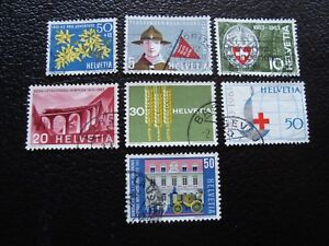 Switzerland-Stamp-Yvert-and-Tellier-N-704-A-710-Obl-A1-Stamp-Switzerland-R