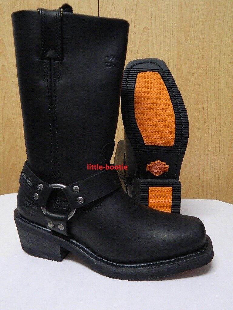 40 Gr. Leder Damänner Schuhe Stiefel Stiefel Harley Davidson