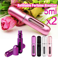 2X Perfume Atomiser Travel Portable Mini Refillable Bottle Scent Pump Spray