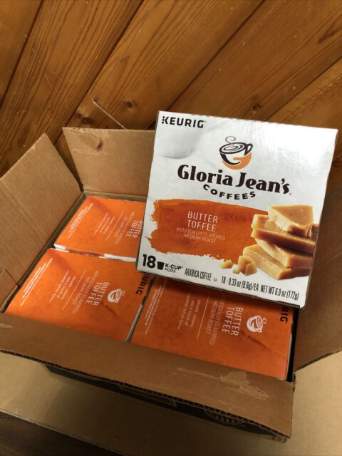 Gloria Jean's Butter Toffee Coffee Keurig K-Cups 72-Count Exp 02/22
