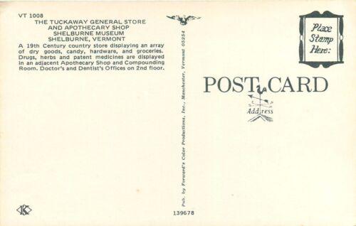 Tuckaway General Store Apothecary Shop Shelburne Museum Postcard