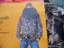 Back Woods Hunter Halloween Costume Shirt Bandana & Beard Duck Dynasty 38 - 40
