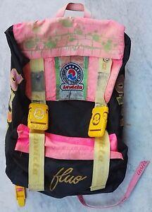 taglia 40 50443 4bdf4 Dettagli su ZAINO INVICTA jolly fluo VINTAGE BACKPACK BAG ANNI '90 ZAINETTO  rucksack sac IN9
