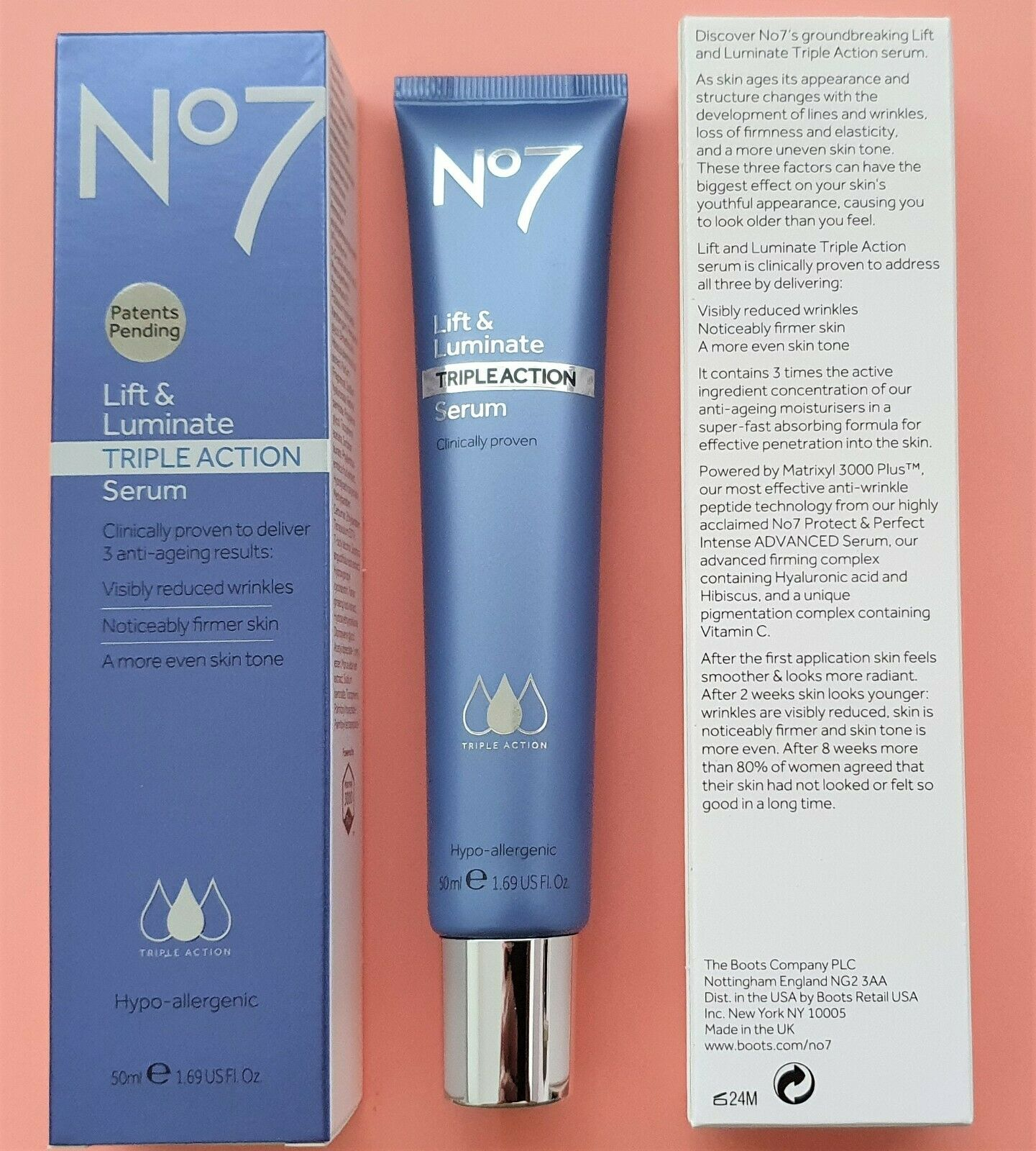 Boots No7 Lift Luminate Triple Action Serum 50ml For Sale Online Ebay