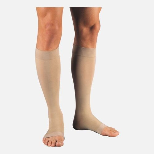 Details about  /Jobst Relief 20-30 Compression Knee High Stockings Open Toe Beige