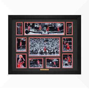 ✺Framed✺ MICHAEL JORDAN Chicago Bulls NBA Poster 45cm x 32cm x 3cm
