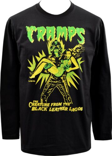 MENS LONG SLEEVE TOP THE CRAMPS CREATURE FROM BLACK LEATHER LAGOON HORROR