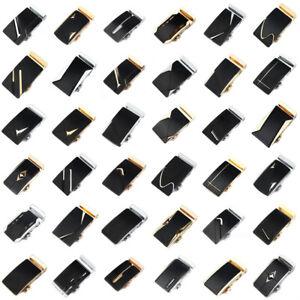 Fashion-Luxury-Men-039-s-Automatic-Belt-Buckle-Leather-Waist-Strap-Belt-Waistband